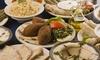 Platte mit syrischen Gerichten