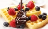 Shakes 'N' Cakes - Multiple Locations: Waffle, Crêpe or Cookie Dough with Drink for Two or Four at Shakes 'N' Cakes, Two Locations (Up to 53% Off)