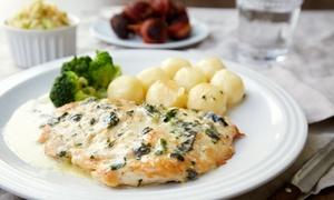 Restauracja Home Lake: Dowolna zupa, danie główne i deser dla 2 osób za 84,99 zł i więcej opcji w Restauracji Home Lake nad jeziorem (do -33%)