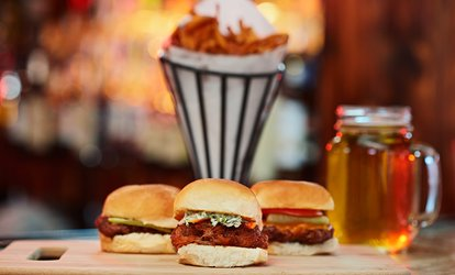 image for Burgers and Sandwiches at Hamburger Mary's 45% Off).  Four Options Available.