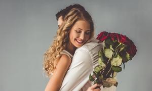 L'Atelier d'Aurélie: Bouquet de 20 ou 30 roses avec une composition au choix dès 24,90 € à L'Atelier d'Aurélie