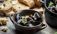 Choice of Steak or Seafood Lunch with Wine for Up to Four People (Up to 46% Off)