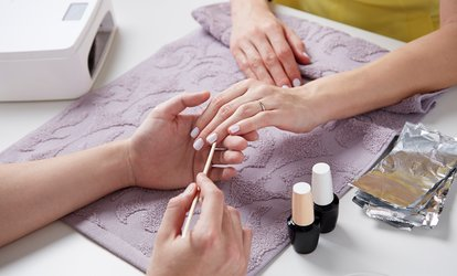 image for Shellac Manicure, Pedicure, or Both at Shine Threading and Beauty Salon (Up to 53% Off)