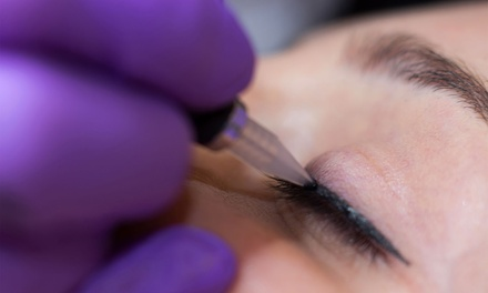 Top or Bottom Eyeliner ($99) or Lip Cosmetic Tattoo ($199) at Amahle Brow Bar and Cosmetic Tattooing (Up to $400 Value)