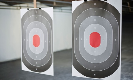 Shooting Range Package or Simulator at Top Gun Indoor Pistol Range (Up to 46% Off). Five Options Available.