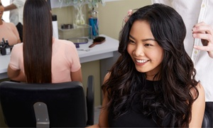 Exchange Hair Group: Women's Wash & Blow-Dry ($15); Style Cut Pkg ($29), to Add Hair Colour ($59) at Exchange Hair Group (Up to $285 Value)