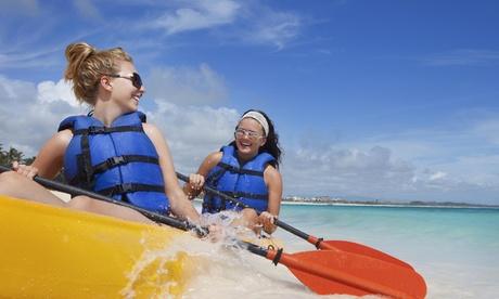 Alquiler de kayak doble para 1 o 2 personas por 1 o 2 horas desde 12,95 € en Paddle Surf Fuengirola