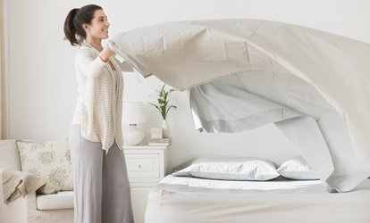 image for Single, Double, King or Super King-Size Duvet Cleaning Service from Bubbles Launderette (Up to 31% Off)