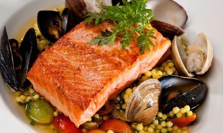 Menú para 2 o 4 con entrante, principal, postre y botella de vino o bebida desde 29,95 € enCatalonia Restaurant