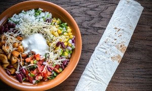 Mad Mex Joondalup and Baldivis: 2 Burritos + Tortilla Chips w Salsa Dip & 2 Drinks ($25) or Upgrade to 4 ($50) Mad Mex, 2 Locations (Up to $95.60 Value)