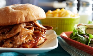Cowgirls Rockbar Orlando: Two or Four Barbecue Platters or Sandwiches with Draft Beer or Soda at Cowgirls Rockbar Orlando (Up to 54% Off)