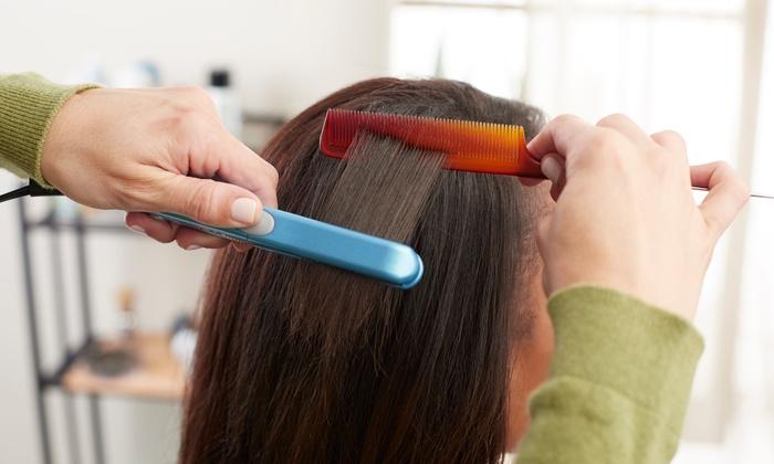 Shay's Hair Salon - Shay's Hair Salon: Haircut and Relaxer, Full Weave, or Silk Press Natural Hair Straightening at Shay's Hair Salon (Up to 59% Off)