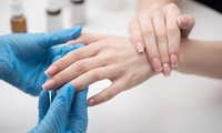 Pose avec rallongement des ongles au gel sur chablon à 40 € à linstitut Nailac Passion