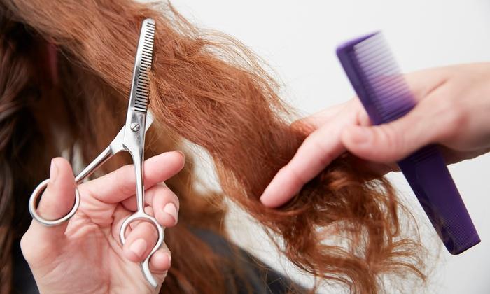 Classic Hair Designs Salon & Spa - Trumbauersville: Women's Cut w/Option of Single-Process Color or Highlights at Classic Hair Designs Salon & Spa (Up to 50% Off)