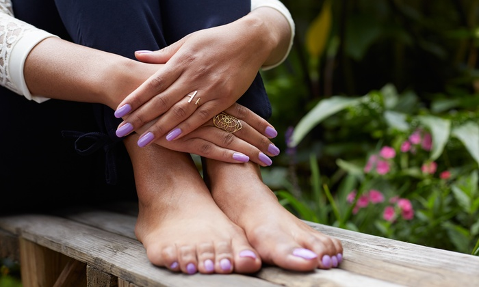 Texas Nails & Music - Sweetbriar: $25 for a Shellac or Gel Manicure or Pedicure at Texas Nails & Music ($35 Value)