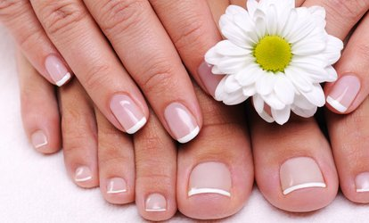 image for One Spa Manicure and Pedicure at Platinum Nail <strong>Salon</strong> (Up to 40% Off)