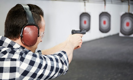 Lane Rental and Handgun Rental for 1 Person or 10-Visit Lane Rental Punch Pass at Sheridan Arms (Up to 64% Off)