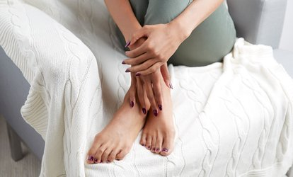 image for Manicure or Pedicire or Both With Treatment and Polish at Pure Hands-On Therapies (Up to 70% Off)