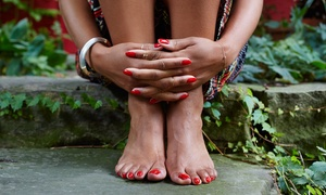 Serenity Nails and Spa: Basic or Shellac Mani-Pedi at Serenity Nails and Spa (Up to 51% Off)