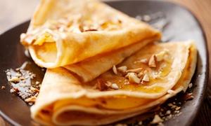 Karina Broodjeshuis: 1,5 onbeperkt pannenkoeken, wafels of appelstrudel vanaf €7,49 bij Karina Broodjeshuis