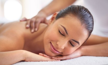 15-Min Neck and Shoulder Massage or 60-Min Thai Massage + Herbal Ball Therapy ($49) at Palace Massage (Up to $110 Value)