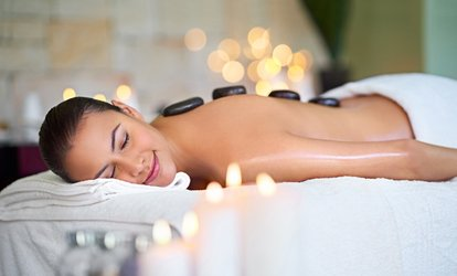 image for Full Body or Back and Shoulder Hot Stone Massage with a Mini Facial at Polished Hair & Beauty