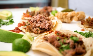 Peaches Cafe: $18 for Five Groupons, Each Good for $6 Worth of Burgers, Tacos, and Kebabs at Peaches Café ($30 Value)