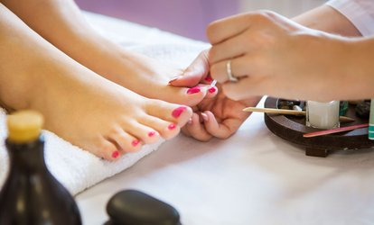 image for Shellac <strong>Gel</strong> Manicure with Optional Classic Pedicure at Balance Hair and Nail Studio (Up to 46% Off)