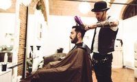 Haircut and Beard Trim with Scalp and Shoulder Spa Treatment, Manicure or Pediscure at Naturopathy Touch