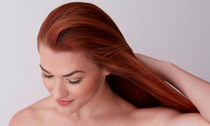 image for Brazilian Keratin Treatment with haircut at Gallery Of Beauty (Up to 72% Off)