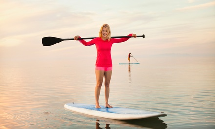 One-Hour Stand-Up Paddleboard and Dry Bag Hire for One ($15) or Two People ($30) at JetBuzz (Up to $60 Value)