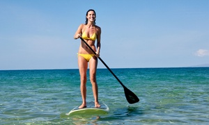 Canoe It Canoe & Kayak Hire: Three-Hour Stand Up Paddleboard Hire with Lesson for One ($39) or Two People ($75) at Canoe It (Up to $210 Value)