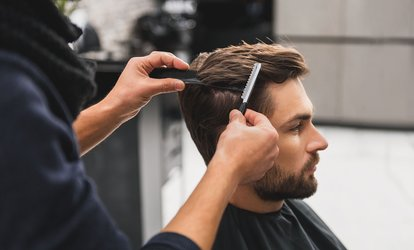 $25 for Men's Cut, Hair and Scalp Treatment + Head Massage + $50 Return Credit at Hair & Body Bliss (Up to $100 Value)