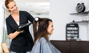 Hairline: Wash, Cut and Blow-Dry with Optional Half Head Highlights or Full Head Colour at Hairline (Up to 71% Off)