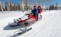 Ruta en moto de nieve biplaza con comida para 2 o 4 desde 99 € en Tenapark, 3 opciones disponibles