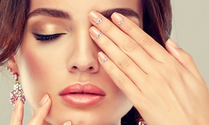 Adoré Hair & Beauty: Shellac Manicure, Eyebrow Threading and Tint with Eyelash Tint or Both at Adoré Hair & Beauty (Up to 57% Off)