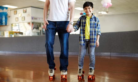 One, Three, or Six Skate Admissions with Skate Rental at Sunrise Rollerland (Up to 52% Off)