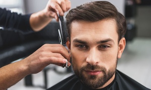 The Gentlemen's Lounge: Kids Haircut or Adult Wash, Cut and Blow-Dry with Optional Nose Wax, Ear Hair Burn and Facial at The Gentlemen's Lounge