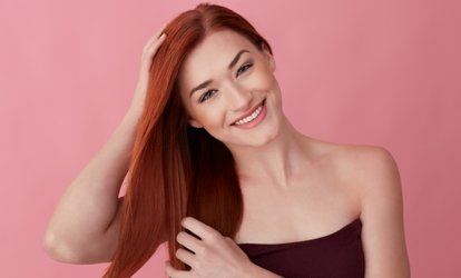 Keratin Treatment with Optional Haircut at Cute Cut <strong>Hair</strong> Salon And Spa (Up to 76% Off)