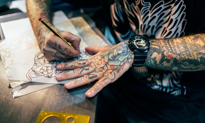 image for Three Hours of Tattooing at Alta Mesa <strong>Tattoo</strong> & Piercing Inc (45% Off)