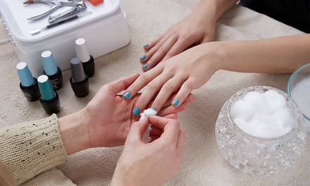 Gel Manicure or Full Set of SNS Dipping Powder at V Beauty Studio (Up to 26% Off)