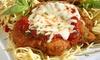 Chicken Parmigiana and Soft Drink