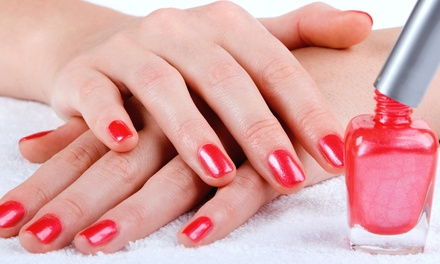 One Shellac Manicure, Two Basic, or One Basic Manicure with Paraffin Dip at V's Blow Out Bar (Up to 51% Off)