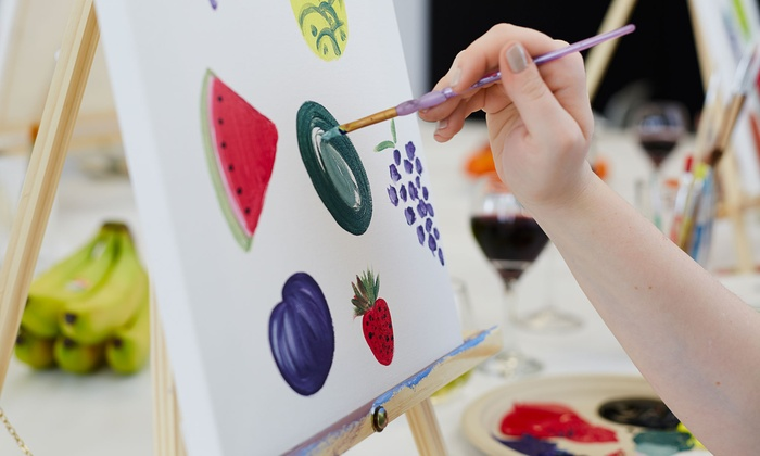 Wine Paint Night Creative Sippin Groupon
