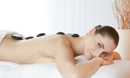 60Minute Hot Stone Massage $39 + 30Minute Foot Massage $55 at Moxapy Up to $90 Value