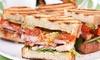 Carrubbers Cafe - Edinburgh: Choice of Panini or Sandwich with Cold Drink for One or Two at Carrubbers Cafe
