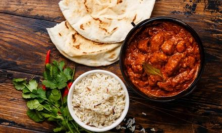 Menu indiano d'asporto per uno