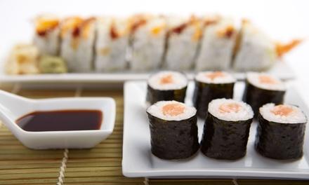Menu Gourmet con sushi e sashimi più vino