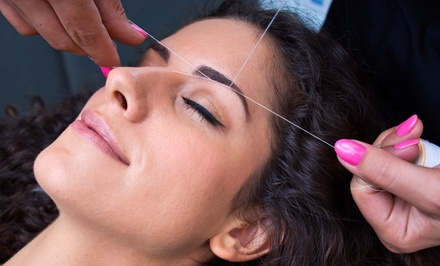 One or Three Eyebrow Threadings or Full-Face Threading at Divine Threading (Up to 58% Off)