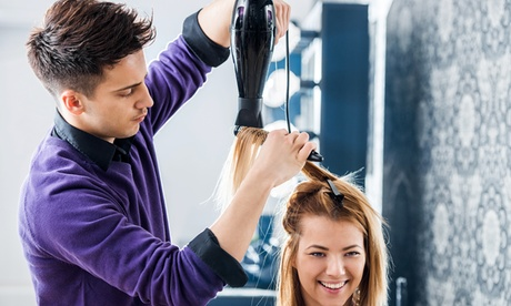 Haircut and Style with Color Touch-Up or Brazilian Blowout at Karma Hair Studio (Up to 48% Off) 1da12bab-8012-41d5-bd31-8eee2a848271